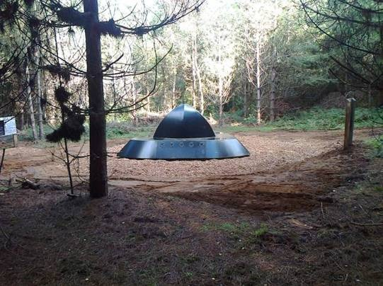 <b>Forest Photo:</b><br>The UFO has landed! Take the 3 mile UFO trail and discover the new landing site sculpture!